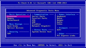 Pc-Check 801 Advanced Diagnostics