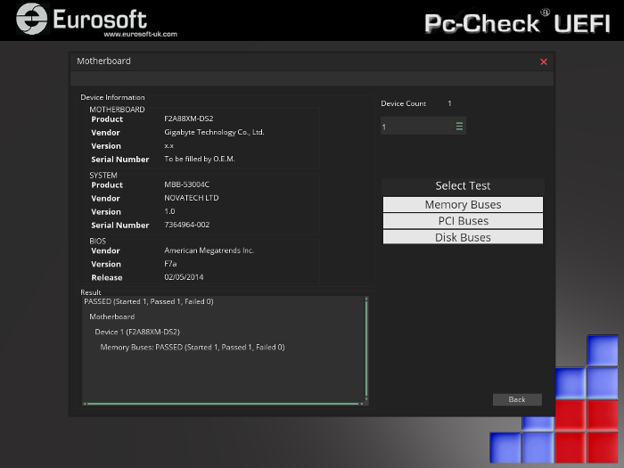 Pc-Check UEFI Motherboard test