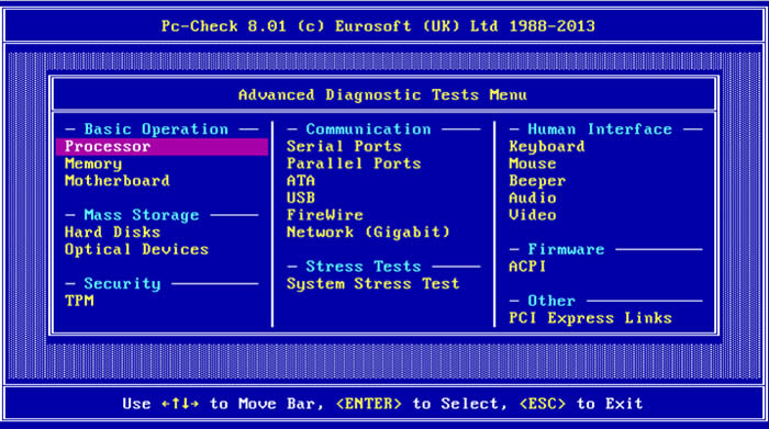 PC-Check Diagnostic Software & Hardware Diagnostics Tools